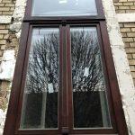 Fa ablak műemlék jellegü kivitelben méretre gyártva, beépítve.