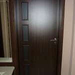 CPL dekorfóliás beltéri ajtó katedrál üveggel 23