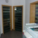 Beltéri ajtó 8mm-es edzett, savmart üveg ajtólap 019