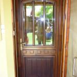Borovi fenyő fa bejárati ajtó egyedi stílusban, ipari felület kezeléssel! 049