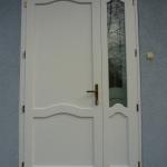 Asszimetrikus borovi fenyő tömör fa bejárati ajtó egyedi méretben! 053