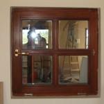 Fa ablak, anyagában osztással.