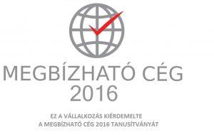 Megbízható cég 2016