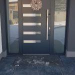 Alumínium bejárati ajtó újjlenyotam érzékelővel+számkombinácis ajtózárral!